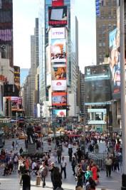 Widok z Times Square na północ