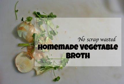 Homemade Vegetable Broth (using kitchen scraps!)