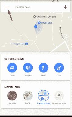 google map address place option