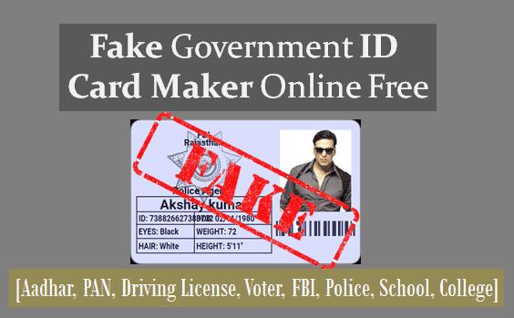 fbi id card maker online poemview co