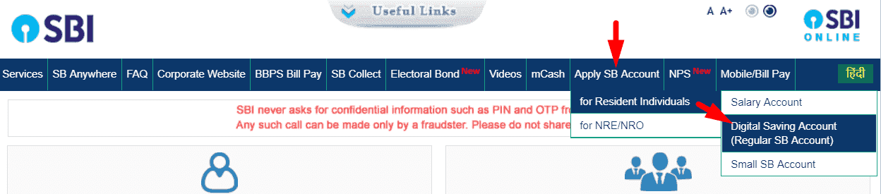 Sbi Saving Account Online Opening Form Bank ख त क स ख ल