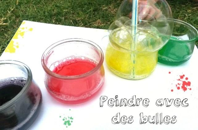 Peindre avec des bulles de couleurs