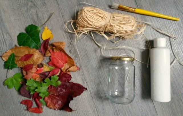 matériel photophore feuille d'automne