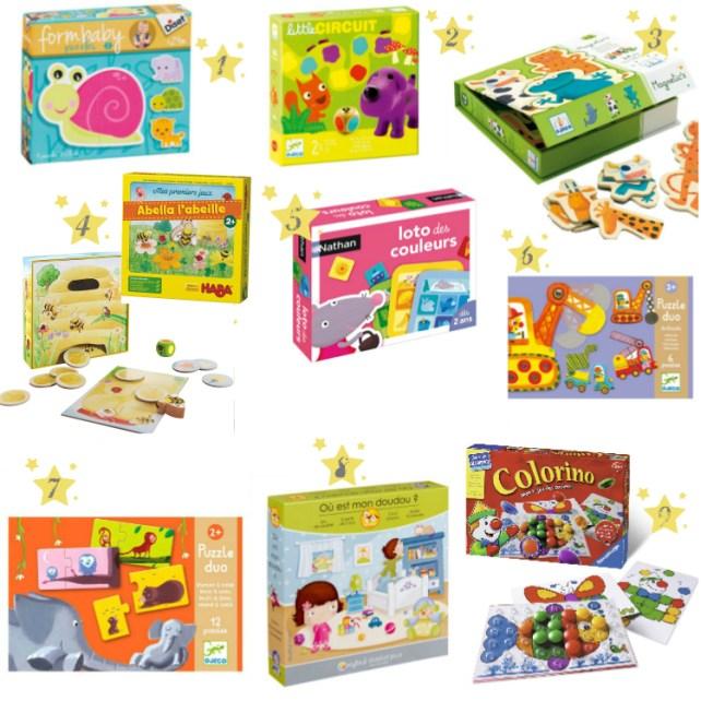 Liste idées cadeaux Noël anniversaire jeux de société puzzles enfants 2 ans