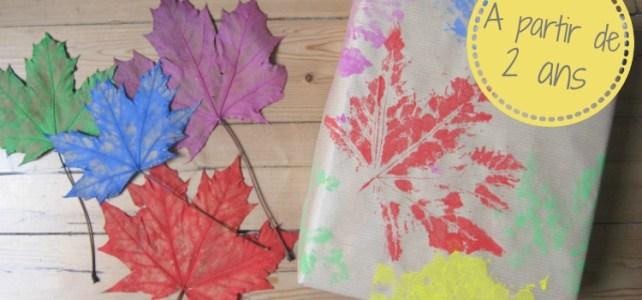Mon papier cadeau perso en feuille d'automne