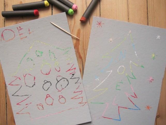 Carte de Noël magiques cartes à gratter DIY