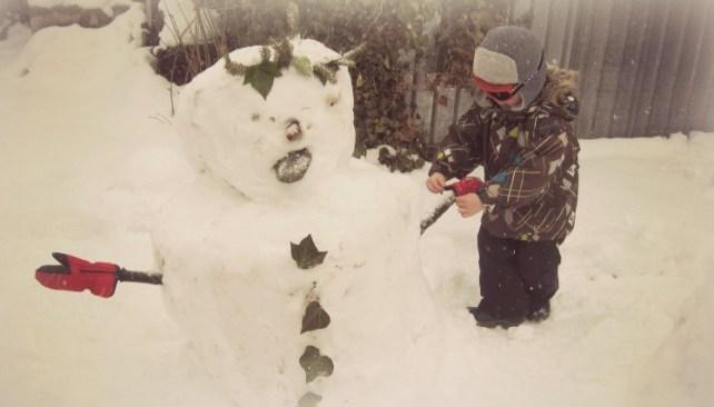 idée jeu hiver fabriquer bonhomme de neige