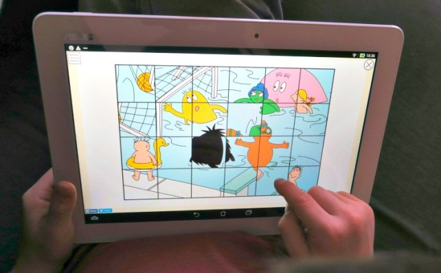 Application Barbapapa tablette Puzzle
