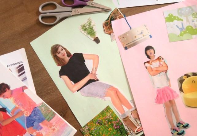 découpage bonhomme dans catalogues et éléments de décor