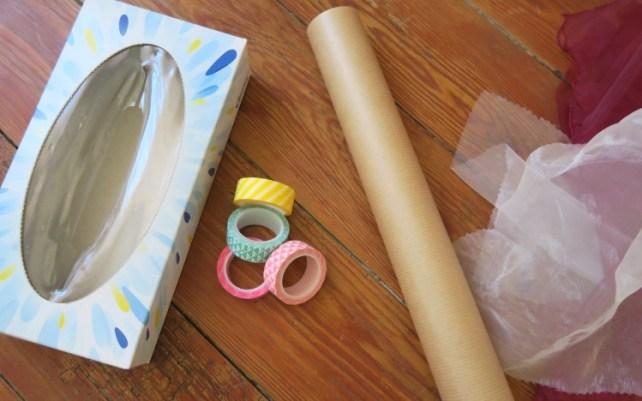 matériel pour fabriquer boite à tissus pour bébé