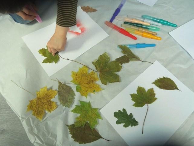 matériel pour pochoir feuilles automne blopen