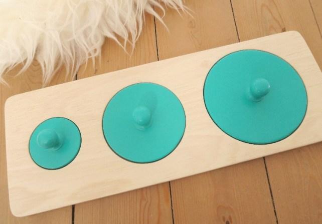 puzzle Montessori bebe forme ronde 15 mois