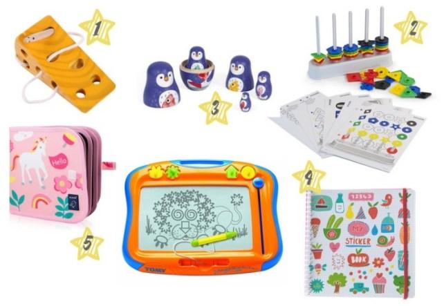 Selection idées cadeaux jeux jouets de manipulation pour enfant 2 ans