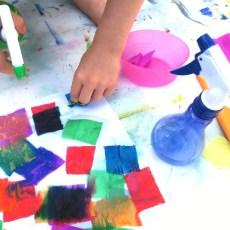La peinture teinture au papier crépon [ Activité été # 5 ]