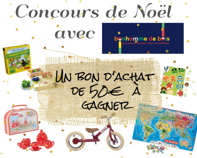 Concours Noël bonhomme de bois Howiplaywithmymome
