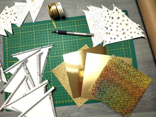 calendrier avent création de fanions en papier