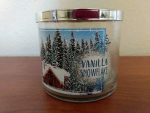 Candle Vanilla Snowflake