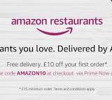 $10 Off $20 With Amazon Restaurants