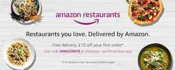 $10 Off $20 With Amazon Restaurants