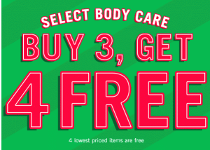Buy 3 Get 4 Free