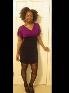 Purple & black with sequin