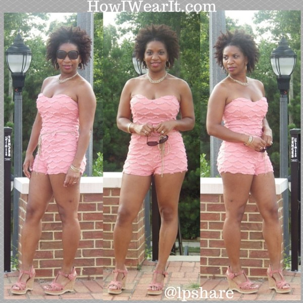 Pink Romper & Wedges How I Wear It