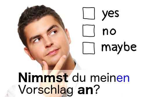 annehmen (to accept)