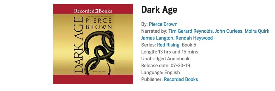 Is The Dark Age Audiobook Changing Some Of The Voice Actors Howler Life