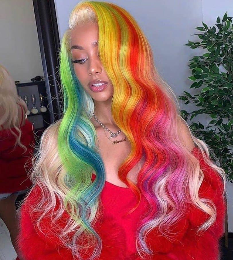 Rainbow Hair 02 - 41 Colorful Rainbow Hair Ideas In 2019
