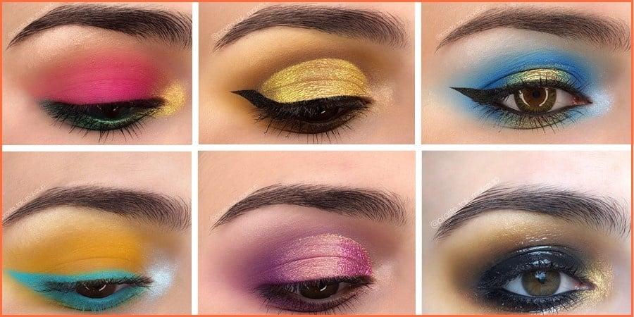colorful eye makeup - 300+ Best Simple Colorful Eye Makeup