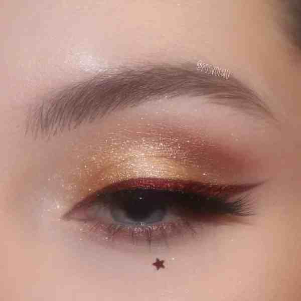 Glitter Eye Makeup 2019122402 - 60+ Attractive and Beautiful Glitter Eye Makeup