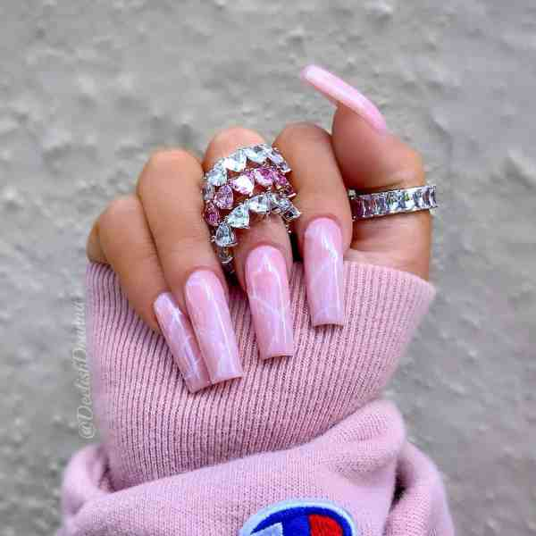 Winter Coffin Nail 2020011401 - 40+ Winter Coffin Nail Designs You Must Try