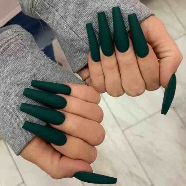 Winter Coffin Nail 2020011403 - 40+ Winter Coffin Nail Designs You Must Try