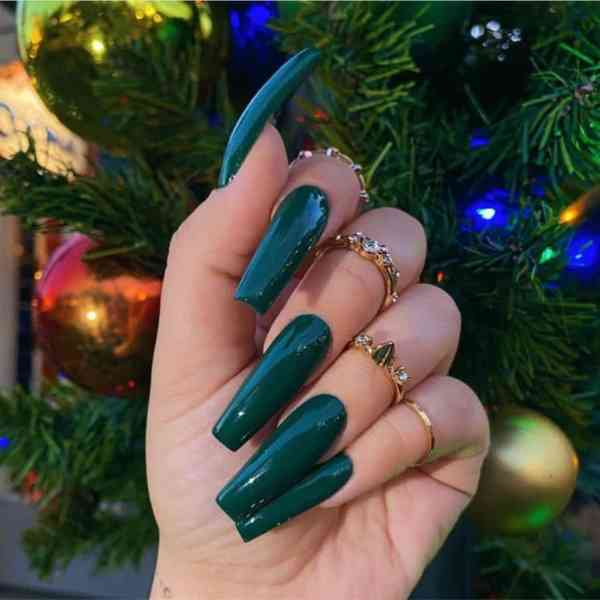 Winter Coffin Nail 2020011405 - 40+ Winter Coffin Nail Designs You Must Try