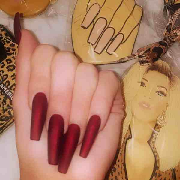 Winter Coffin Nail 2020011408 - 40+ Winter Coffin Nail Designs You Must Try