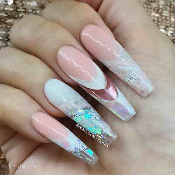 Winter Coffin Nail 2020011418 - 40+ Winter Coffin Nail Designs You Must Try