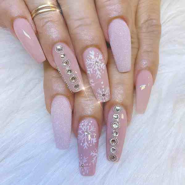 Winter Coffin Nail 2020011420 - 40+ Winter Coffin Nail Designs You Must Try