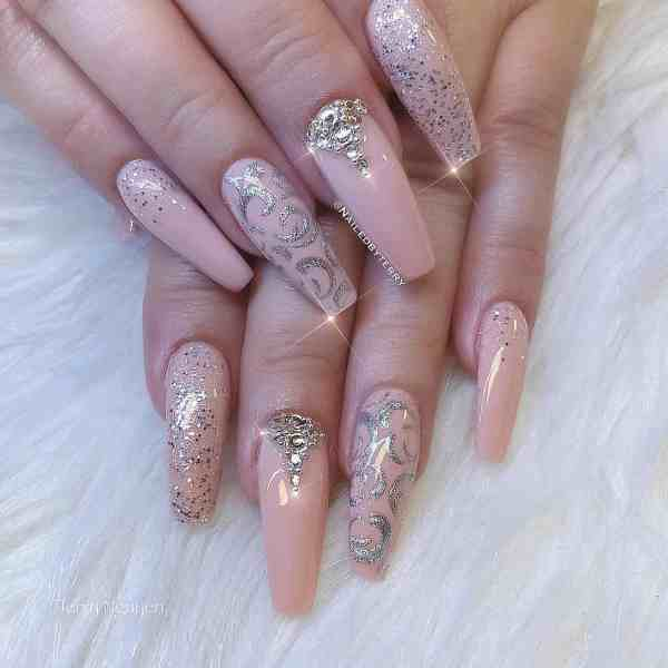 Winter Coffin Nail 2020011421 - 40+ Winter Coffin Nail Designs You Must Try