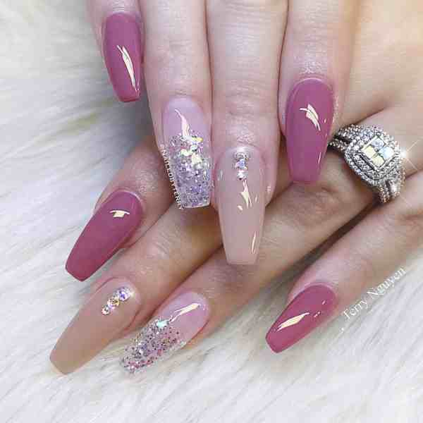 Winter Coffin Nail 2020011427 - 40+ Winter Coffin Nail Designs You Must Try