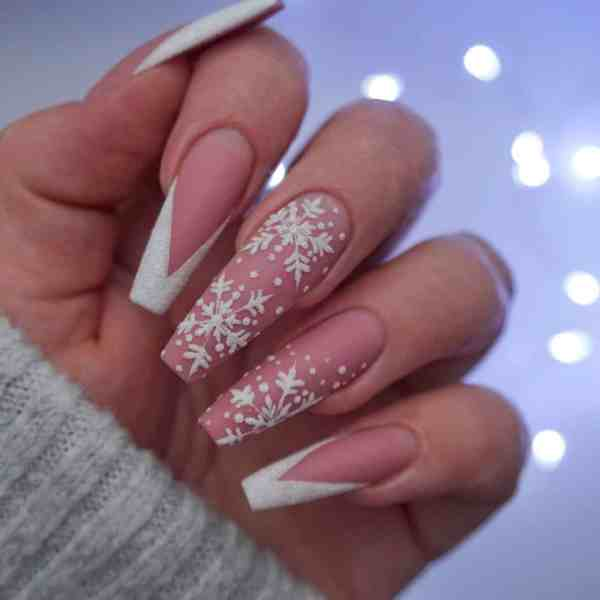 Winter Coffin Nail 2020011440 - 40+ Winter Coffin Nail Designs You Must Try