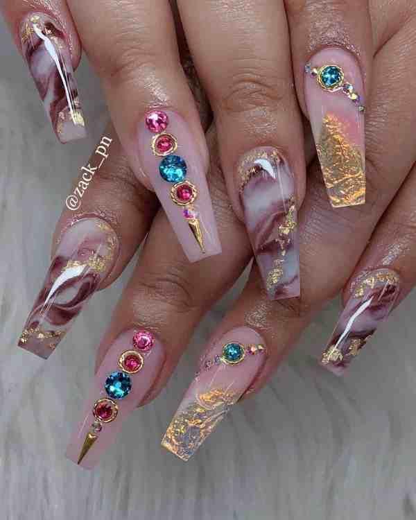 long coffin nail 2020013120 - 80+ Charming Long Coffin Nail Designs in 2020