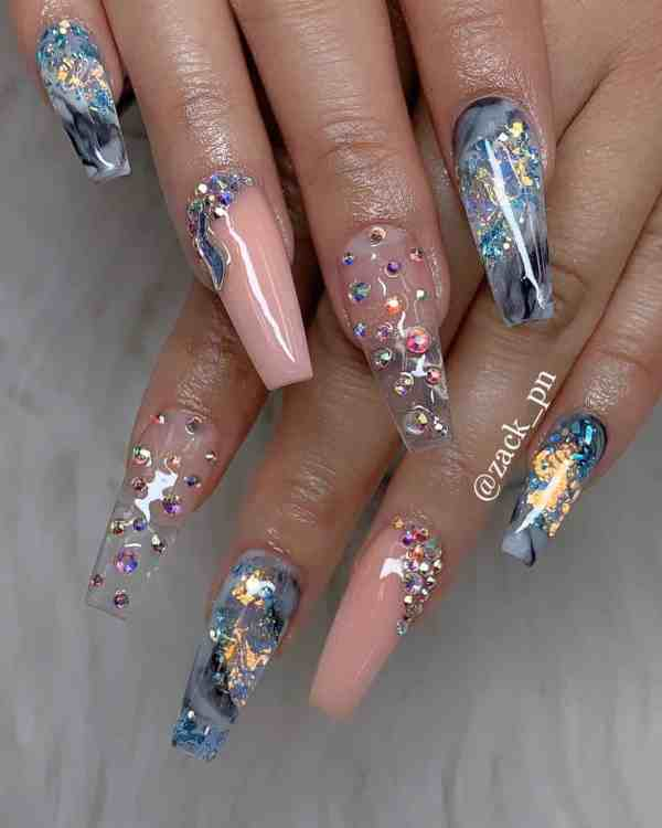 long coffin nail 2020013184 - 80+ Charming Long Coffin Nail Designs in 2020