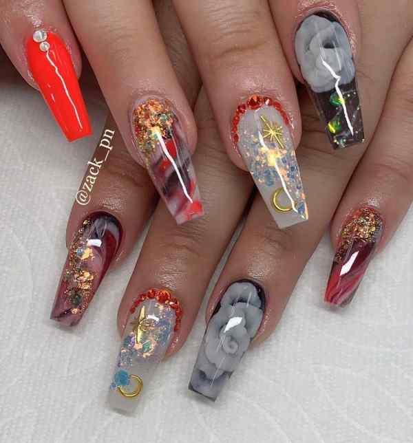 long coffin nail 2020013187 - 80+ Charming Long Coffin Nail Designs in 2020
