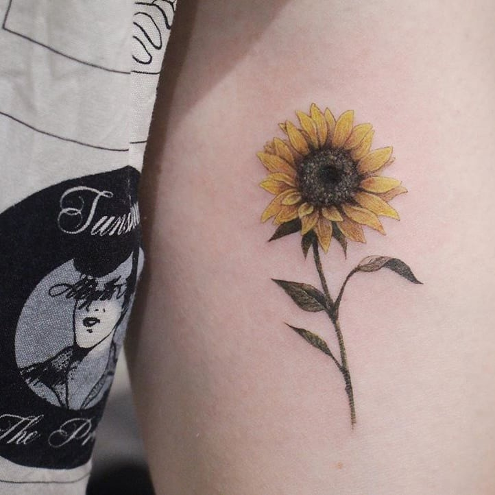 Sunflower Tattoo Designs 2020061214 - Inspirational Sunflower Tattoo Designs 2020