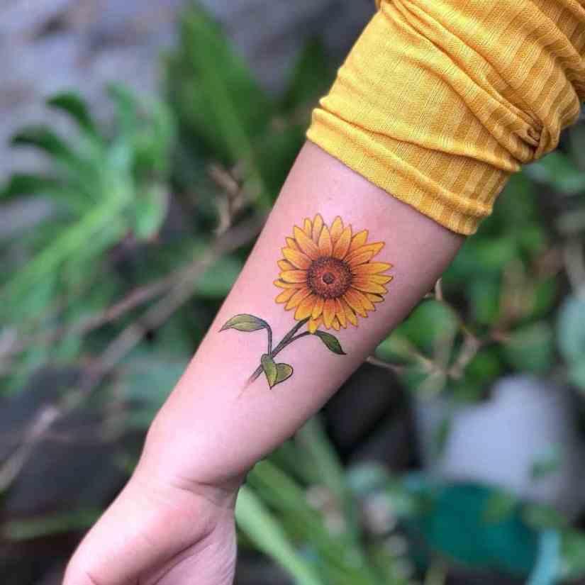 The Most Beautiful Sunflower Tattoo Designs 2020 ...