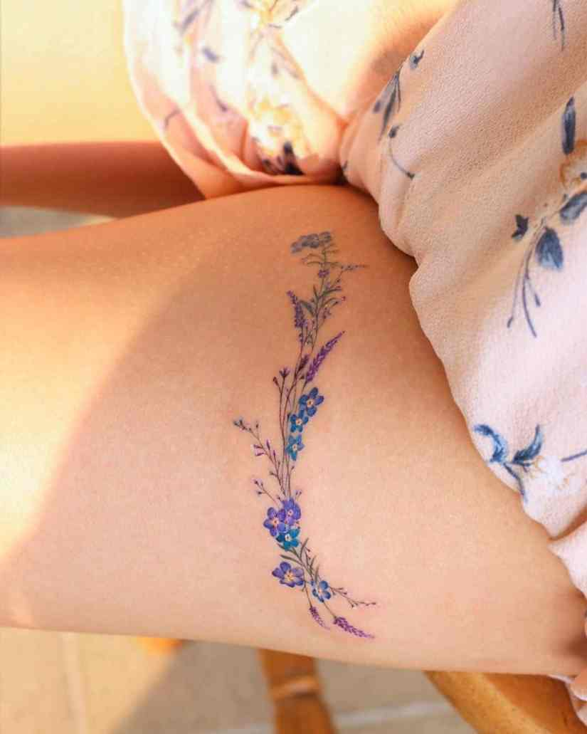 forget me not flower tattoo 2020062103 - Forget-Me-Not Flower Tattoo Meaning