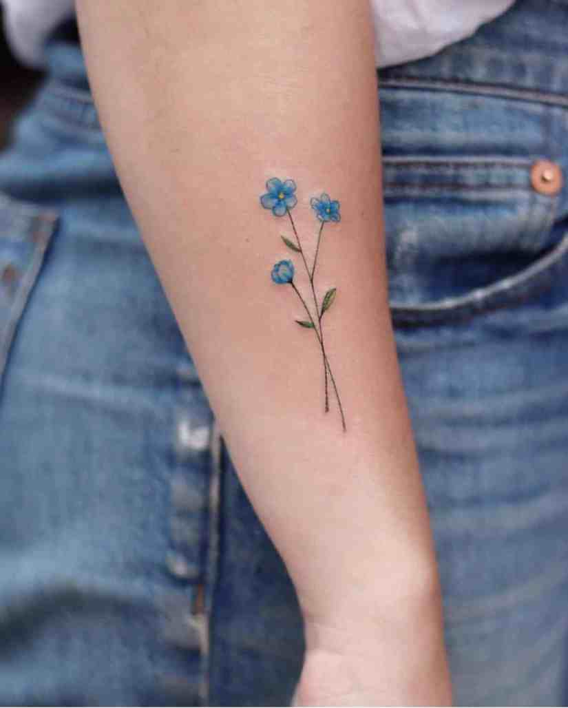 forget me not flower tattoo 2020062105 - Forget-Me-Not Flower Tattoo Meaning