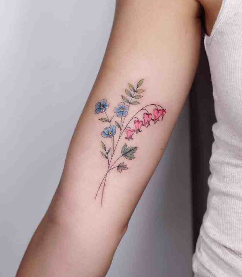 forget me not flower tattoo 2020062106 - Forget-Me-Not Flower Tattoo Meaning