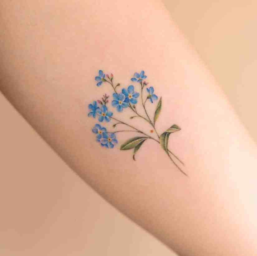 forget me not flower tattoo 2020062109 - Forget-Me-Not Flower Tattoo Meaning