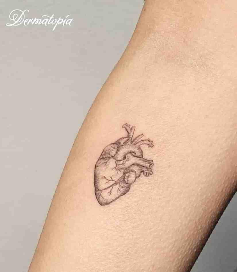 heart tattoo 2020061007 - Anatomy Heart Tattoo Designs You Will Heart Them